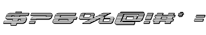 Outrider Chrome Italic Italic Font OTHER CHARS