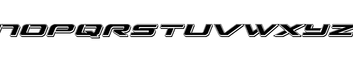 Outrider Punch Italic Italic Font LOWERCASE