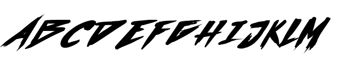 Outrun future Bold Italic Font UPPERCASE