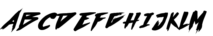 Outrun future Bold Font UPPERCASE