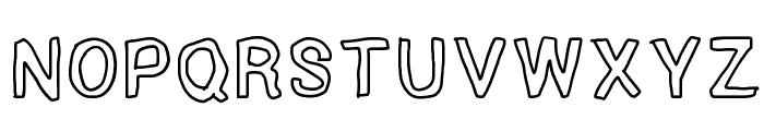 Outside inside outline Font UPPERCASE