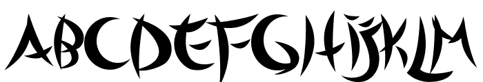 Outsiders Font UPPERCASE