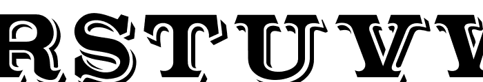 Outstanding Font UPPERCASE