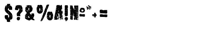 Outcast I Regular Font OTHER CHARS