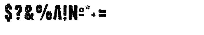 Outcast II Regular Font OTHER CHARS