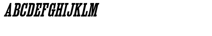 Outlaw Bold Oblique Font UPPERCASE