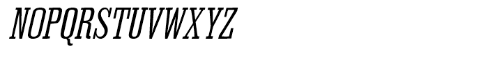 Outlaw Oblique Font UPPERCASE