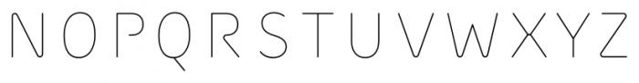 Outliner Regular Font UPPERCASE