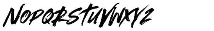 Outback Italic Font UPPERCASE
