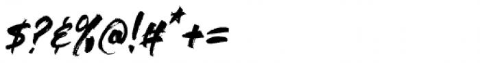 Outback Regular Font OTHER CHARS
