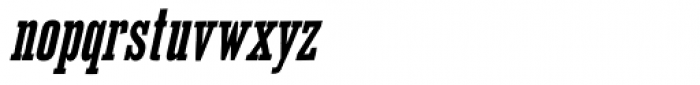 Outlaw Bold Oblique Font LOWERCASE