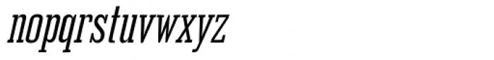Outlaw Oblique Font LOWERCASE