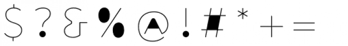 Outliner Fill Font OTHER CHARS