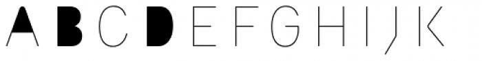 Outliner Fill Font UPPERCASE