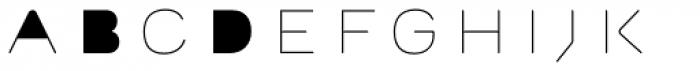 Outliner Fill Font LOWERCASE