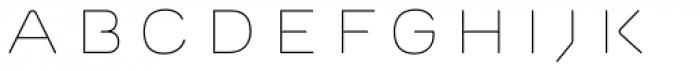 Outliner Regular Font LOWERCASE