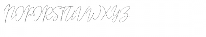 Outside Collection Script One Font UPPERCASE