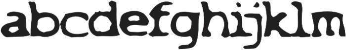 Overexposed otf (400) Font LOWERCASE