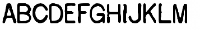 Overdrawn Account Font LOWERCASE
