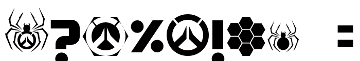 OVERWATCH Font OTHER CHARS