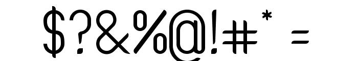 Oval Track Regular Font OTHER CHARS