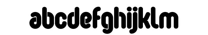 OvalSingle Font LOWERCASE