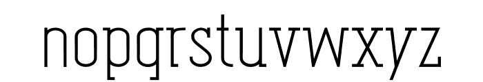 Oval_Egyptian Font LOWERCASE