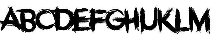 Overdose Sunrise Font UPPERCASE