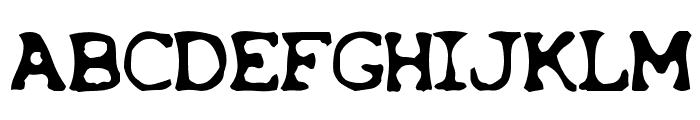 Overexposed Font UPPERCASE