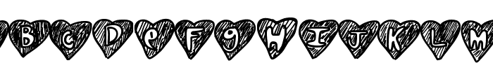 Overhearts Font UPPERCASE
