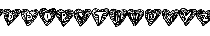 Overhearts Font LOWERCASE