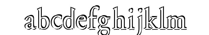 Overlapserif Font LOWERCASE