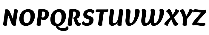 Overlock Black Italic Font UPPERCASE