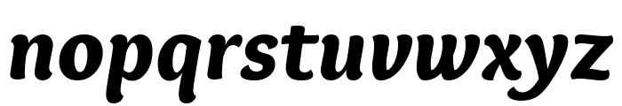 Overlock Black Italic Font LOWERCASE
