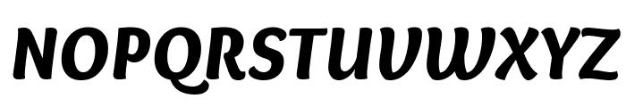 Overlock-BlackItalic Font UPPERCASE
