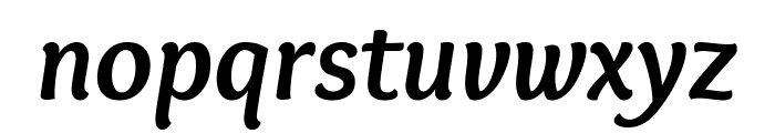 Overlock Bold Italic Font LOWERCASE