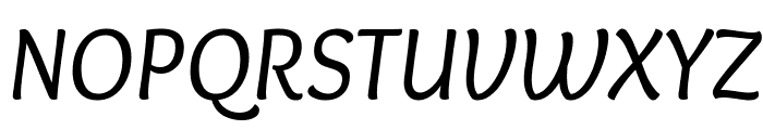 Overlock-Italic Font UPPERCASE
