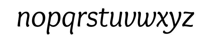 Overlock-Italic Font LOWERCASE