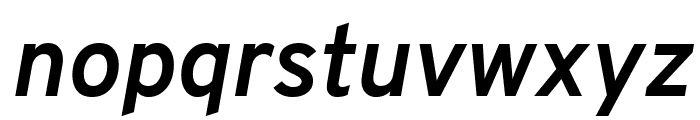 Overpass Bold Italic Font LOWERCASE