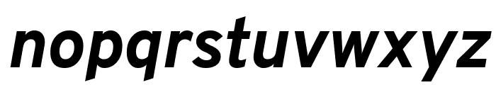 Overpass ExtraBold Italic Font LOWERCASE