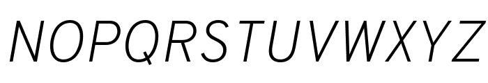 Overpass ExtraLight Italic Font UPPERCASE