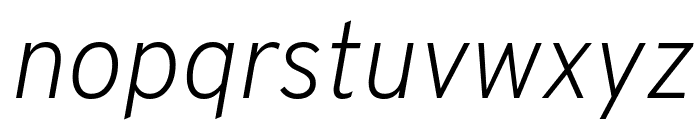 Overpass ExtraLight Italic Font LOWERCASE