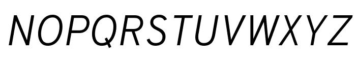 Overpass Light Italic Font UPPERCASE