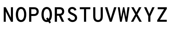 Overpass Mono SemiBold Font UPPERCASE