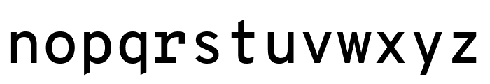 Overpass Mono SemiBold Font LOWERCASE