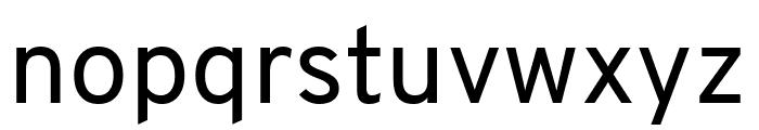 Overpass Regular Font LOWERCASE