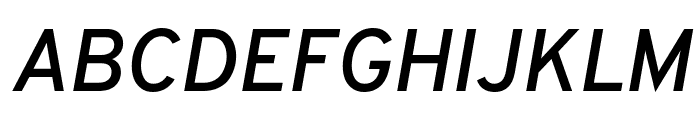 Overpass SemiBold Italic Font UPPERCASE
