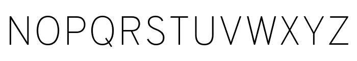Overpass Thin Font UPPERCASE