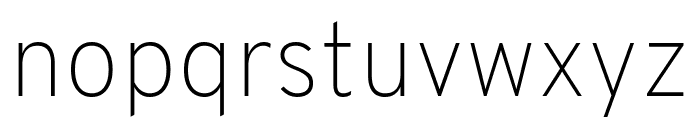 Overpass Thin Font LOWERCASE