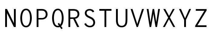 OverpassMono-Light Font UPPERCASE